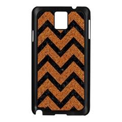 Chevron9 Black Marble & Rusted Metal Samsung Galaxy Note 3 N9005 Case (black) by trendistuff