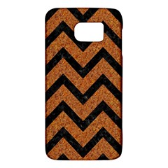Chevron9 Black Marble & Rusted Metal Galaxy S6 by trendistuff