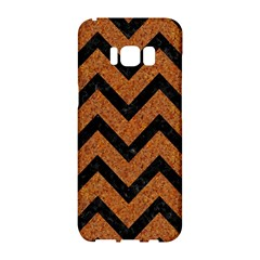 Chevron9 Black Marble & Rusted Metal Samsung Galaxy S8 Hardshell Case  by trendistuff