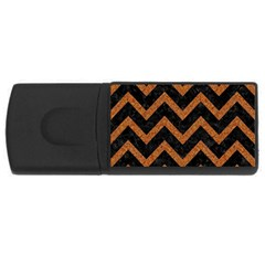 Chevron9 Black Marble & Rusted Metal (r) Rectangular Usb Flash Drive by trendistuff