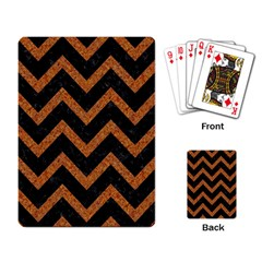 Chevron9 Black Marble & Rusted Metal (r) Playing Card by trendistuff