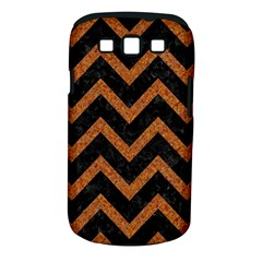 Chevron9 Black Marble & Rusted Metal (r) Samsung Galaxy S Iii Classic Hardshell Case (pc+silicone) by trendistuff