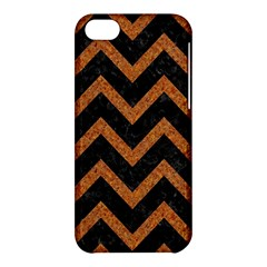 Chevron9 Black Marble & Rusted Metal (r) Apple Iphone 5c Hardshell Case by trendistuff