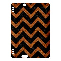 Chevron9 Black Marble & Rusted Metal (r) Kindle Fire Hdx Hardshell Case by trendistuff