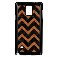 Chevron9 Black Marble & Rusted Metal (r) Samsung Galaxy Note 4 Case (black) by trendistuff