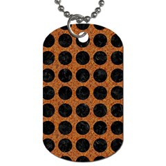 Circles1 Black Marble & Rusted Metal Dog Tag (two Sides) by trendistuff