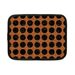 Circles1 Black Marble & Rusted Metal Netbook Case (small)  by trendistuff