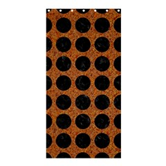 Circles1 Black Marble & Rusted Metal Shower Curtain 36  X 72  (stall)  by trendistuff