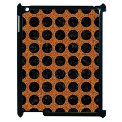 Circles1 Black Marble & Rusted Metal Apple Ipad 2 Case (black) by trendistuff