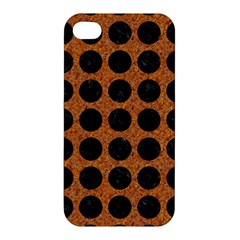 Circles1 Black Marble & Rusted Metal Apple Iphone 4/4s Premium Hardshell Case by trendistuff