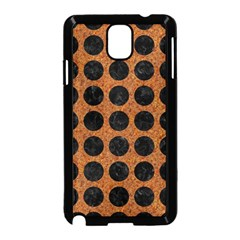 Circles1 Black Marble & Rusted Metal Samsung Galaxy Note 3 Neo Hardshell Case (black) by trendistuff