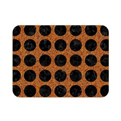 Circles1 Black Marble & Rusted Metal Double Sided Flano Blanket (mini)  by trendistuff