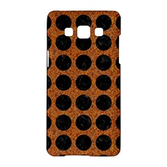Circles1 Black Marble & Rusted Metal Samsung Galaxy A5 Hardshell Case  by trendistuff