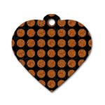 CIRCLES1 BLACK MARBLE & RUSTED METAL (R) Dog Tag Heart (One Side) Front