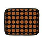 CIRCLES1 BLACK MARBLE & RUSTED METAL (R) Netbook Case (Small)  Front