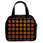 CIRCLES1 BLACK MARBLE & RUSTED METAL (R) Classic Handbags (2 Sides) Front