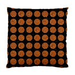 CIRCLES1 BLACK MARBLE & RUSTED METAL (R) Standard Cushion Case (One Side) Front
