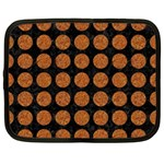 CIRCLES1 BLACK MARBLE & RUSTED METAL (R) Netbook Case (XL)  Front
