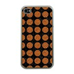 CIRCLES1 BLACK MARBLE & RUSTED METAL (R) Apple iPhone 4 Case (Clear) Front