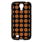 CIRCLES1 BLACK MARBLE & RUSTED METAL (R) Samsung Galaxy S4 I9500/ I9505 Case (Black) Front