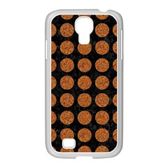 Circles1 Black Marble & Rusted Metal (r) Samsung Galaxy S4 I9500/ I9505 Case (white) by trendistuff