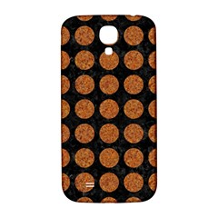 Circles1 Black Marble & Rusted Metal (r) Samsung Galaxy S4 I9500/i9505  Hardshell Back Case by trendistuff