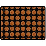 CIRCLES1 BLACK MARBLE & RUSTED METAL (R) Double Sided Fleece Blanket (Large)  80 x60 Blanket Front