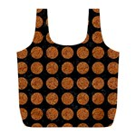 CIRCLES1 BLACK MARBLE & RUSTED METAL (R) Full Print Recycle Bags (L)  Front