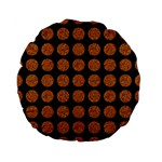 CIRCLES1 BLACK MARBLE & RUSTED METAL (R) Standard 15  Premium Flano Round Cushions Front