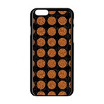 CIRCLES1 BLACK MARBLE & RUSTED METAL (R) Apple iPhone 6/6S Black Enamel Case Front