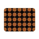 CIRCLES1 BLACK MARBLE & RUSTED METAL (R) Double Sided Flano Blanket (Mini)  35 x27 Blanket Back