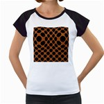 CIRCLES2 BLACK MARBLE & RUSTED METAL Women s Cap Sleeve T