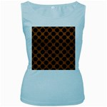 CIRCLES2 BLACK MARBLE & RUSTED METAL Women s Baby Blue Tank Top