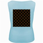 CIRCLES2 BLACK MARBLE & RUSTED METAL Women s Baby Blue Tank Top Back