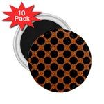 CIRCLES2 BLACK MARBLE & RUSTED METAL 2.25  Magnets (10 pack)