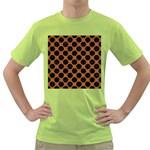 CIRCLES2 BLACK MARBLE & RUSTED METAL Green T-Shirt