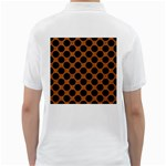 CIRCLES2 BLACK MARBLE & RUSTED METAL Golf Shirts Back