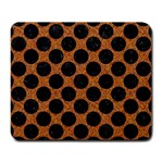 CIRCLES2 BLACK MARBLE & RUSTED METAL Large Mousepads