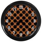CIRCLES2 BLACK MARBLE & RUSTED METAL Wall Clocks (Black)