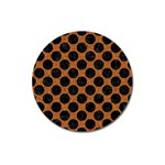 CIRCLES2 BLACK MARBLE & RUSTED METAL Magnet 3  (Round)