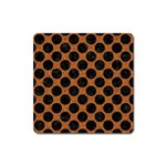 CIRCLES2 BLACK MARBLE & RUSTED METAL Square Magnet Front