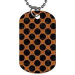 CIRCLES2 BLACK MARBLE & RUSTED METAL Dog Tag (One Side)