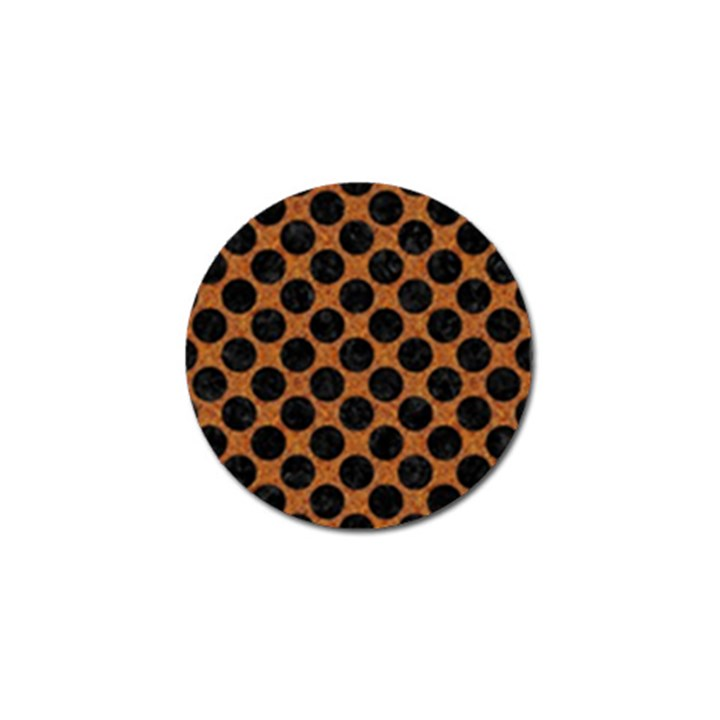 CIRCLES2 BLACK MARBLE & RUSTED METAL Golf Ball Marker (4 pack)