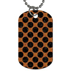 Circles2 Black Marble & Rusted Metal Dog Tag (two Sides) by trendistuff