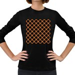 CIRCLES2 BLACK MARBLE & RUSTED METAL Women s Long Sleeve Dark T-Shirts Front