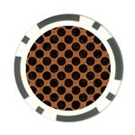 CIRCLES2 BLACK MARBLE & RUSTED METAL Poker Chip Card Guard Back