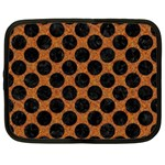 CIRCLES2 BLACK MARBLE & RUSTED METAL Netbook Case (Large)