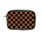 CIRCLES2 BLACK MARBLE & RUSTED METAL Coin Purse