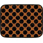 CIRCLES2 BLACK MARBLE & RUSTED METAL Double Sided Fleece Blanket (Mini)