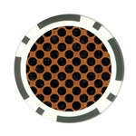 CIRCLES2 BLACK MARBLE & RUSTED METAL Poker Chip Card Guard (10 pack)